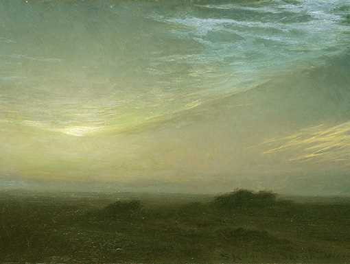 Painting from the moors north of Skagen